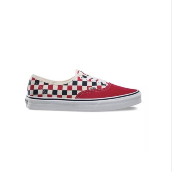 5aaabf8e086 Vans Golden Coast Red Blue White Checkers Shoes